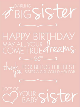 Pleasing Top 200 Happy Birthday Big Sister Quotes And Images Personalised Birthday Cards Rectzonderlifede