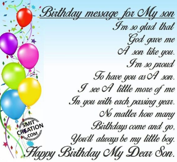 Funny Birthday Wishes For Son 2019