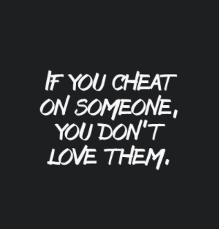 true love cheating quotes